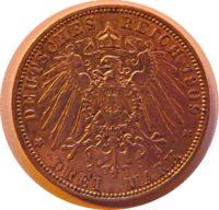 3 Mark König v Bayern 1909