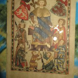 Faksimile gemalt mit Goldauftrag