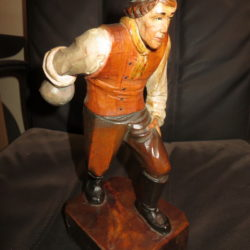 Kegler statue Schnitzerei 19. Jhdt.