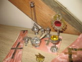 MESSSPIELZEUG Sakrales Spielzeug 1935 Neusilber / antique Miniature Mass Kit 1935 from Germany