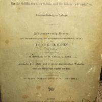 Stein, C. G. D.: neuer Atlas der ganzen Erde