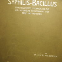 """Dr. Max von Niessen, Otto Nemnich Verlag 1908 """"der Syphilis Bacillus"""""""