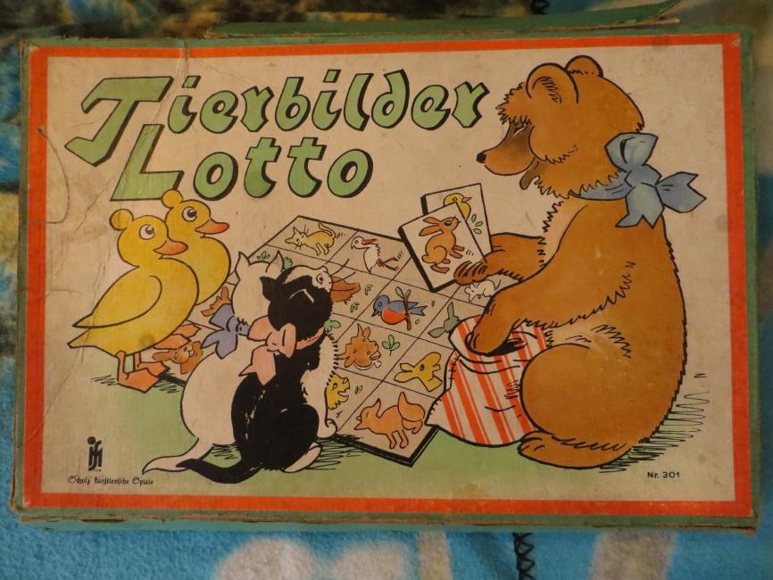 Verlag Scholz künstlerische Spiele  Tierbilder Lotto Scholz Nr 301