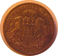 2 Mark 1893  Hamburg Freie und Hansestadt
