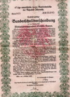 Bundesschuldverschreibung 1922 über 25.000 Kronen
