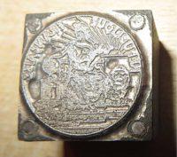 französischer Siegelstempel / Petschaft aus Frankreich / französische Siegel