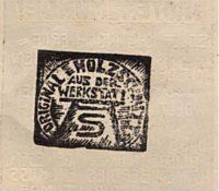 Holzschnitt Walter von der Vogelweide   Xylographie  1920