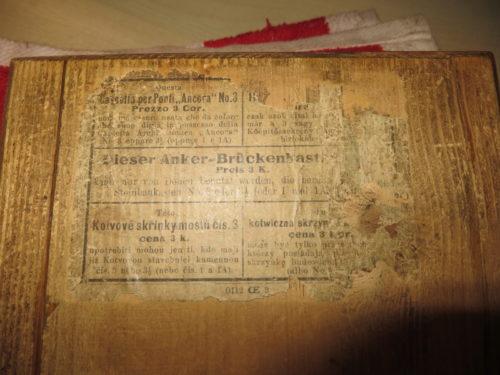 Unterseite der Schachtel Anker Brückenkasten 3
