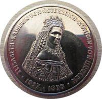 Gedenkmünze Kaiserin Sisi Elisabeth 1990 Alpacca