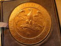 Karlsbad 1908 Verdienstmedaille vergoldet von Christlbauer Wien