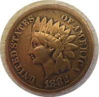 1 Cent 1882 Indianer Kopf 1882 Indian Head Penny