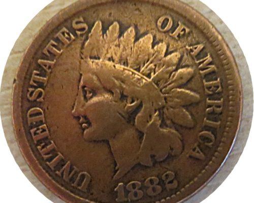 1 Cent 1882 Indianer Kopf 1882 Indian Head Penny