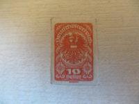 10 Heller Deutschösterreich rot ungezaehnt