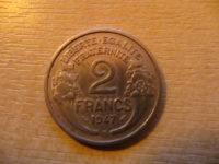 2 Francs 1947 - 2 Francs 1943 Aluminium