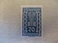 20 Kronen blau ungestempelt