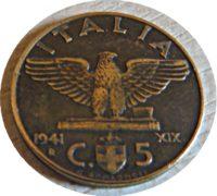 5 Centesimi 1941