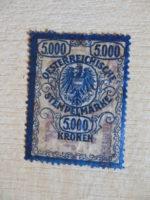 5000 Kronen Stempelmarke Österreich Kaiserzeit