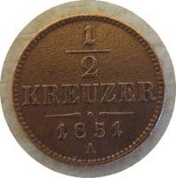 Halber Kreuzer 1851