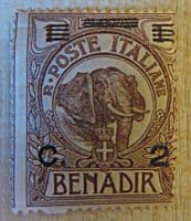 Benadir 1 Besa 1903 /   2 Centesimi auf 1 Besa 1926 /   5 Centesimi auf 2 Besa 1906 / 1916