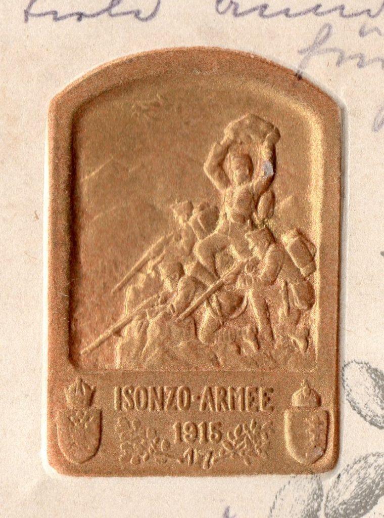goldener Reliefstempel Isonzo Armee 1915 / 17