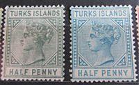 Turks Island half penny