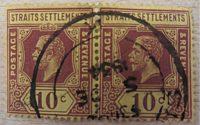 10 cents straits Settlements 1934 - vintage stamps