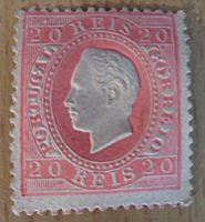 20 Reis karminrot 1884 King Luis I. Portugal