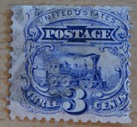3 Cent Baldwin Lokomotive 1869 - G-Grill USA
