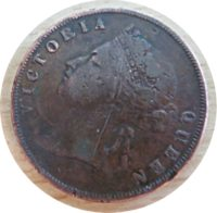 one Cent 1900  Straits Settlements Queen Victoria