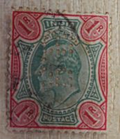 1 Rupee british India PERFIN