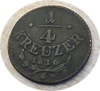viertel Kreuzer B 1816