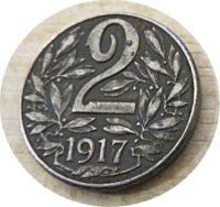 2 Heller 1917 2 Heller 1918 Kaiser Karl I. v. Österreich