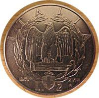 2 Lire 1939 Emanuele II. Italien