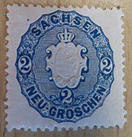 2 Neu-Groschen Sachsen 1850 / halber Neugroschen 1850 Sachsen