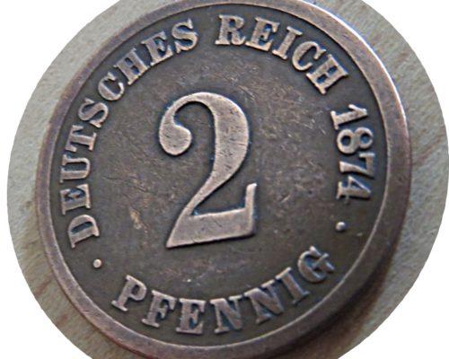 2 Pfennig 1874 deutsches reich