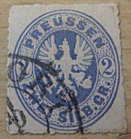 2 Silbergroschen  Preussen 1861 gezähnt