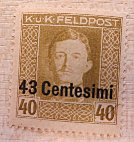 K.u.K. Feldpost 43 Centesimi auf 40