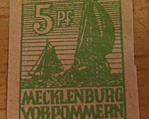 Briefmarken Mecklenburg-Vorpommern Ausgaben der Oberpostdirektionen (O.P.D.) der sowjetischen Besatzungszone