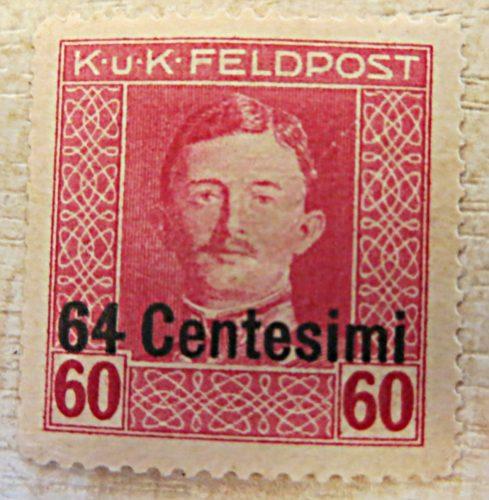 K.u.K. Feldpost 64 Centesimi auf 60