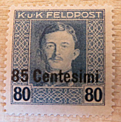 K.u.K. Feldpost 85 Centesimi auf 80