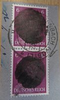 Hitler Briefmarke geschwaerzt