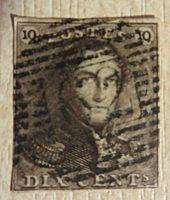 10 centimes 1849 Belgien