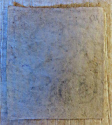 Rueckseite - dix centimes Leopold I. 1849