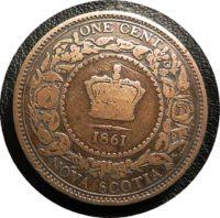 one cent 1861 Nova Scotia