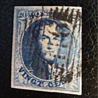 10 centimes 1849 Belgien - 20 Centimes Leopold I. 1849 - blau