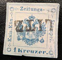 1 Kreuzer Zeitungsmarke Austria STÄMPEL