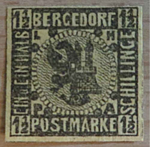 1 1/2 Schilling Postmarke Bergedorf