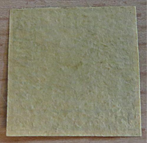 1 1/2 Schilling Postmarke Bergedorf Rückseite