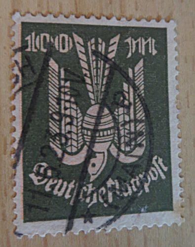 100 Mark 1923 Holztaube gestempelt - Flugpost Ergänzungswerte