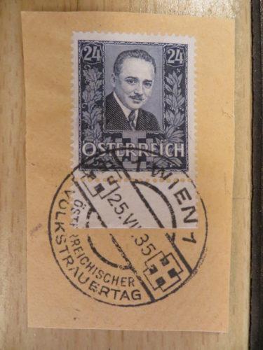 Volkstrauertag 25 Juli 1935 Dollfuß - Sonderstempel